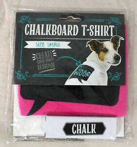 Thought Bubble Chalkboard Dog/Pet T-Shirt w/Chalk (Pink) Dog  Size Small (S)