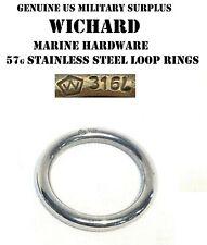 WICHARD STAINLESS STEEL FORGED SAILING BOATING WEBBING CARABINER LOOP RING 45MM