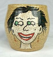 Art Pottery Stoneware Excited Woman Crazy Eyes Varela Pop Abstract Mug