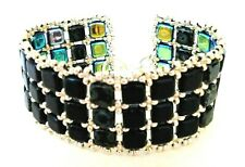 Handmade Black Tila Beaded Bracelet