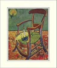 Van Gogh Paul Gauguin's Armchair Chair 10 x 8 Inch Mounted Art Print