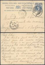 India 1907 - Postal Stationery to Ghent Belgium - Railroad TPO D8