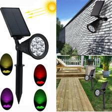 Waterproof 7 LED Solar Panel Power Flood Lights Yard Lawn Garden Wall Spotlight