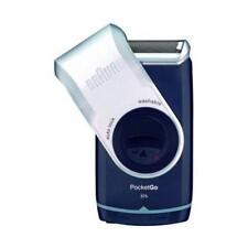 BRAUN M90 MobileShave Rasoio Elettrico a Batteria Colore Blu Scuro e argento