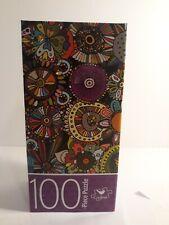 Cardinal Flower Doodles 100 Pieces Jigsaw Puzzle