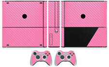 Pink Carbon Fiber Vinyl Skin Sticker for Xbox360 Slim E and 2 controller skins