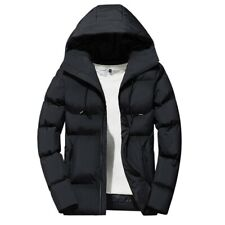 Winter Mens Thick Warm Hooded Jacket Overcoat Outwear Zip Padded Quilted Cotton