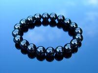 Jet 10mm Natural Gemstone Bracelet 6-9'' Elasticated Healing Stone Chakra Reiki