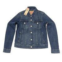 Levi's Women's Original Trucker Jacket In Dark Blue In Size M