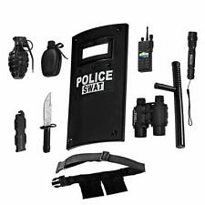 Toy Police Set for Kids Role Play Swat Team Toy Shield Officer Station Children