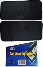 Car Auto Truck Sun Visor 11 CD or DVD Holder Organizer Holder Case - 2 Pack