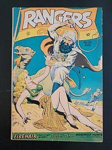 RANGERS COMICS #36, Doolin-c, Matt Baker-a, VG/FN, Fiction House (1947)