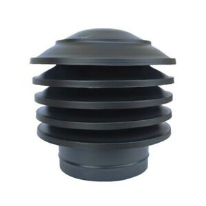 Chimney Cowl Anti Down Draught BLACK Flue Pipe Cap, Vent Top Cover, Exhaust Hat