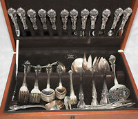 94* Pieces Set Of Gorham Sterling Silver Sliverware Melrose Pattern-Marked