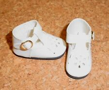 "Hopscotch Hill DOLL Shoes 50mm WHITE t-Straps fit P90 Toni 14/"" Betsy"