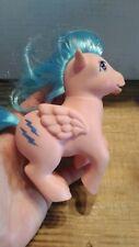 Vintage My Little Pony Figure  Pink Blue FIREFLY Pegasus Lightning Bolts 1983
