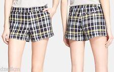 NWT Joie Merci Plaid Linen Shorts Size 8