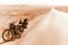 BMW R75 /5  MOTORCYCLE ROAD TRIP  20 X 30 DIGITAL PRINTED PHOTOGRAPHY