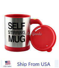 New Auto Mixing Coffee Tea Cup Stainless Plain Lazy Self Stirring Novelty Mug