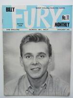 BILLY FURY ORIGINAL mensual REVISTA N º 11 enero 1965 GRAN limpieza ESTADO