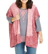 Stunning Ladies Two Tone Pink Thick Cardigan/Jumper  Size 22-24  (Free Post)