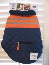 The Humane Society Dog Jacket - Size Medium - Navy and Orange - NEW
