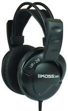 UR20 Noise Isolating Over-Ear Studio Headphones, Black - KOSS