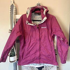 Marmot Womens WaterProof Hooded Lightweight Rain Jacket Size XL