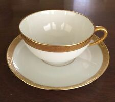 Hutschenreuther Gold Encrusted / Rimmed Tea Cup & Saucer