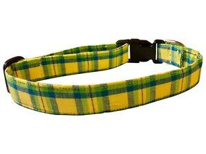 SPIFFY POOCHES Dog Cat Collar PREPPY PLAID ~B.O.G.O @ 50% OFF C DESCRIPTION~