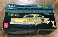 Vintage AMT 1958 Chevy IMPALA Hardtop Model Kit EMPTY BOX ONLY & instructions