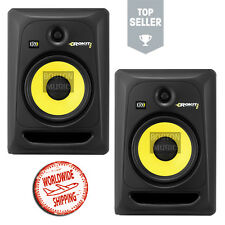 "PAIR of KRK Rokit 8"" RP8G3NA Active Studio Monitors Powered Reference Speakers"