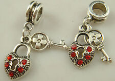 New European Silver Charm Bead Fit sterling 925 Necklace Bracelet Chain US kp5w