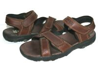 TIMBERLAND Sherington Brown Oiled Leather Sport Sandals 11 M ❤️GREAT! L@@K!35