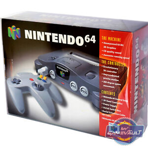 N64 Console BOX PROTECTOR for Nintendo 64 Strong 0.5mm PET PLASTIC DISPLAY CASE