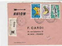 Rep Federale du Cameroun 1969 Regd Airmail Fruits + Fish Stamps Cover Ref 32404
