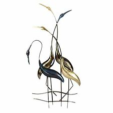 Metal Wall Art Decor Picture - Fabulous Exotic Birds Flamingo`s 85 cm