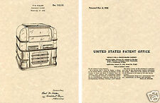 WURLITZER Model 61 JUKEBOX US PATENT Art Print READY TO FRAME! 1938 Juke Fuller