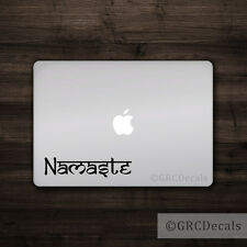 Namaste - Vinyl Decal Mac Apple Logo Laptop Sticker Macbook Decal Peace Ohm Om