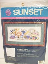 The Hat Shop Cross Stitch KIT 13918 Sunset Dimensions 1993 UNOPENED Rare