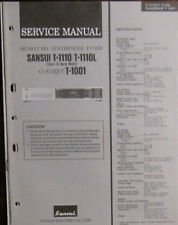 Sansui T-1110/1110L tuner service repair workshop manual (original copy)