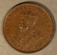 1927 Australia 1/2 Penny Brown Higher Grade   ** FREE U.S. SHIPPING **