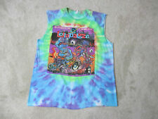 Lollapalooza Chicago Concert Shirt Adult Large Green Blue Tie Dye Band Rock Mens