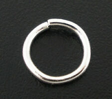 30 pcs Silver plated Open Jump Ring Connector 8x1.5mm jewelry findings DIY