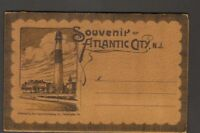 Undated Unused Postcard Souvenir Folder of Atlantic City New Jersey NJ