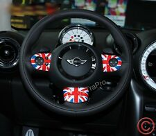 FOR MINI COOPER COUNTRYMAN STEERING WHEEL COVER UNION JACK STYLE RED FLAG