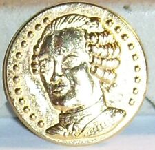 PIECE MEDAILLE ROI DE FRANCE 1710 1774 LOUIS XV FEVE METAL DORE 2D