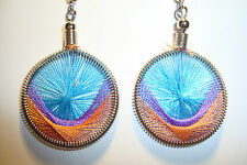 Peruvian Alpaca Silver & Handmade Dreamcatcher Thread  Earrings~NT2~uk seller
