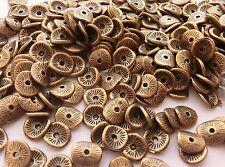 20 x Metallperlen Scheiben Kupfer 10x9mm