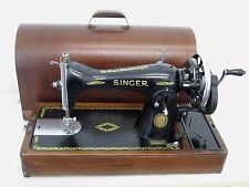 Vintage Singer 15K88 Heavy Duty Hand Crank Sewing Machine Leather Sail Used